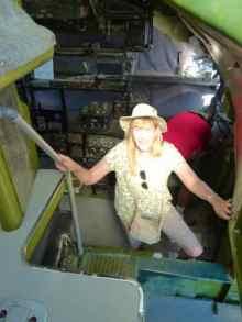 Climbing inside the B-36