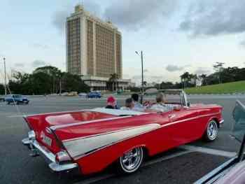1957 Chevy Belair at the Plaza de la Revolution Havana