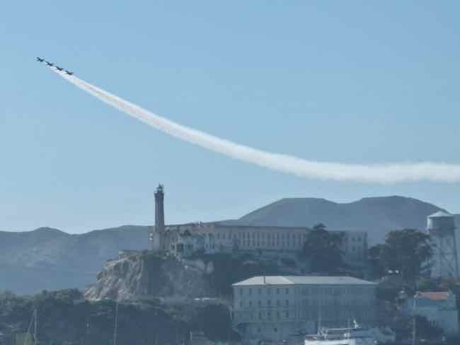 Blue Angels Over Alcatraz and San Francisco Bay