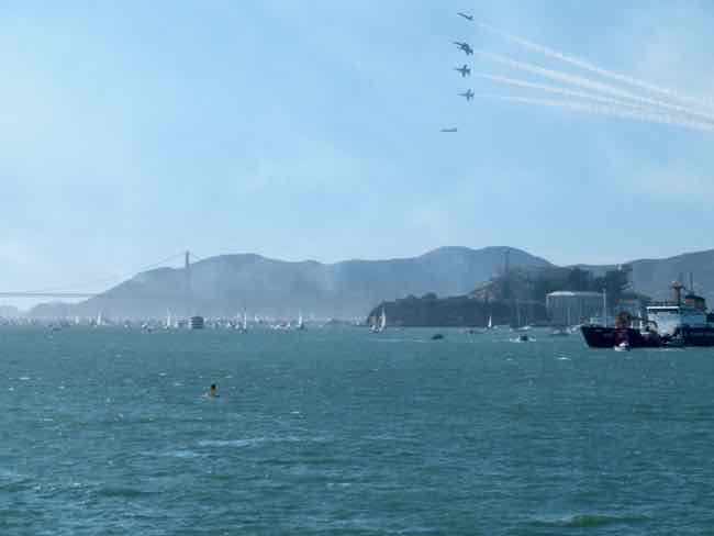 Blue Angels, Alcatraz and the Golden Gate Bridge