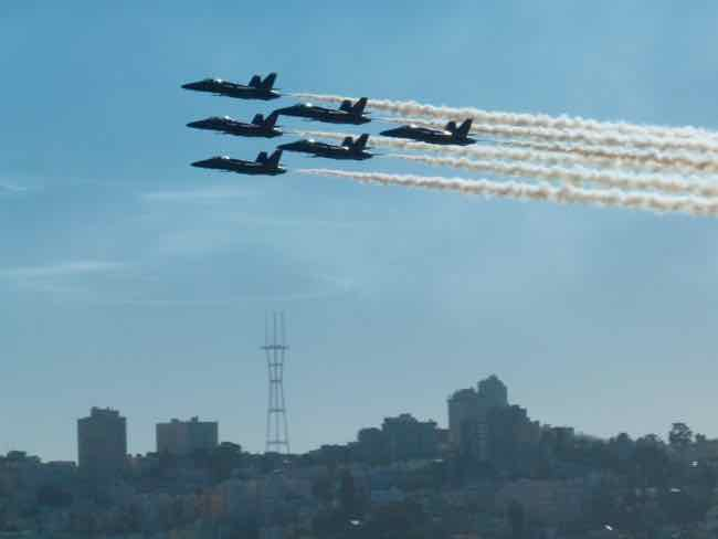Blue Angels over San Francisco