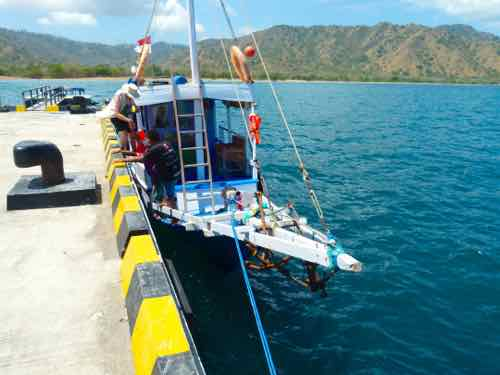 Our boat from Flores Island to Komodo Island
