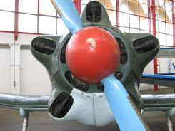 Nose of the Budapest Aviation Museum's Yak-18