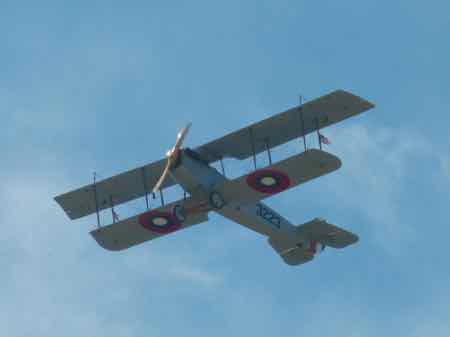 Curtiss JN4C Jenny in flight