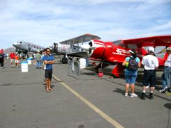 Douglas DC-2; Boeing 40-C and Beech D17S Staggerwing