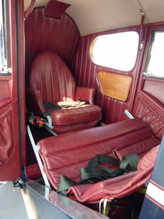 de Havilland DH-83 Fox Moth passenger compartment