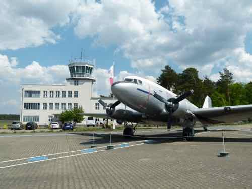 Berlin-Gatow tower with RAF Dakota