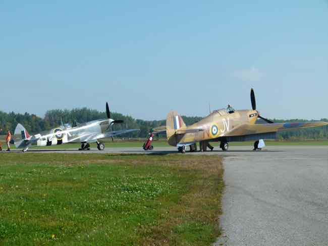 Spitfire and Hurricane at Gatineau