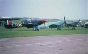 Flightline - Hurricane and Spitfires at Duxford