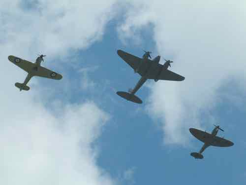 Hurricane, Mosquito and Spitfire