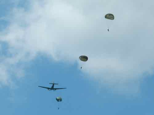 Junkers Ju-52 with parachute drop