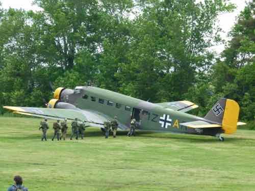 Junkers Ju-52 with reenactors