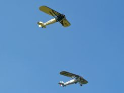 Two Morane Saulnier MS 317s flying together...