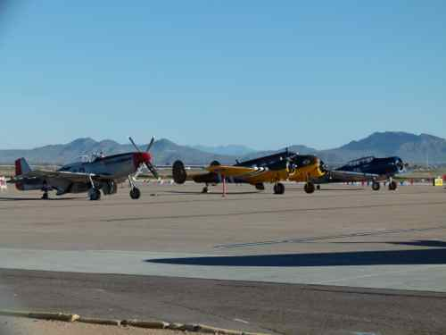 P-51, Beech-C-45, SNJ-5
