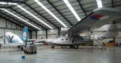 PBY 5A Catalina and DC3 at Lelysta