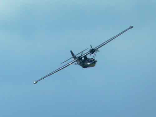 PBY 5A Catalina coming in