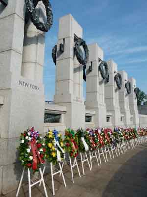 WWII Memorial on 70th Anniversary of VE Day