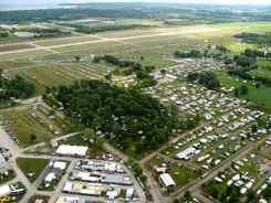 Aerial View Oshkosh Airshow