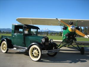 Beautifully restored antique airplanes, trucks, cars and more...
