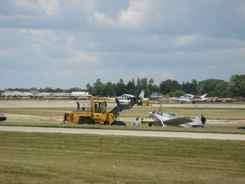 Bonanzas land as crash is removed