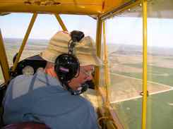 Mark gets to copilot the cub over Kansas