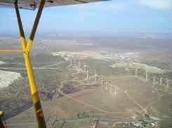 Cub dodging windmills on landing Tehachapi