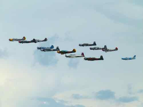 Formation flight low pass