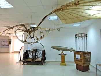 Exhiibits in the Monino Museum