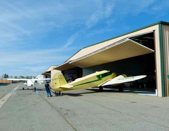 Bamboo Bomber comes out of the hangar