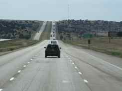 Lots of Straight Open Road in New Mexico