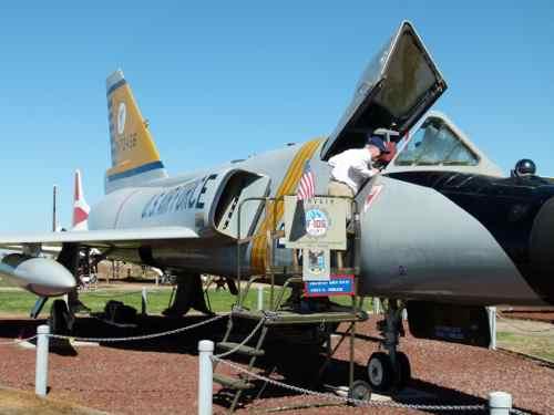 Peering Into A F-106 Delta Dart Castle Air Museum
