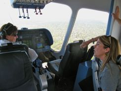 The pilot is happy to explain things when she (or he) is not busy.