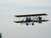 Judy flying in Wright B Flyer Replica