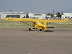 Cub at Prescott Airport - Embry Riddle behind