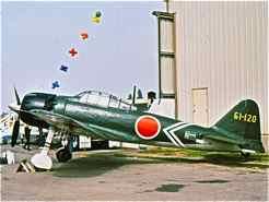 Japanese Mitsubishi Zero fighter