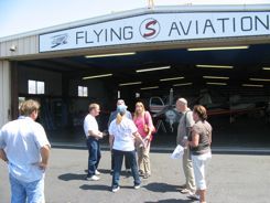 Greeting committee for Cub Arrival at Flying S Aviation