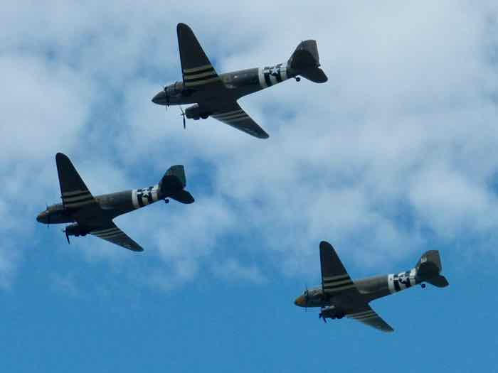 C-47s fly in formation