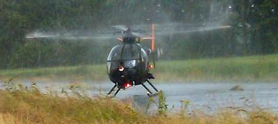 UH1 Loach in the rain at East Fortune