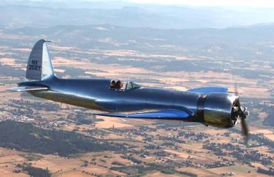 Racer In Flight