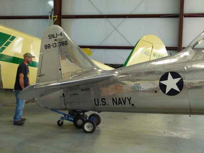 Moving the SNJ out of hangar