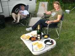 Jack and Carol celebrate the Cub in Oshkosh
