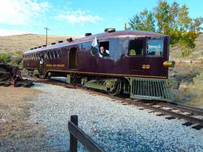 1910 Virginia and Truckee McKeen Motor Car #22 at the Nevada State Railroad Museum in Carson City