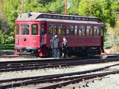 1903 Peninsular Railway Car #52 at the Western Railroad Museum, Rio Vista California.  It ran in San Jose, CA.