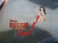 From Russia With Love Yak Nose Art at Oshkosh