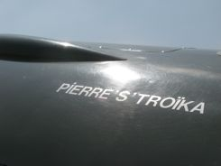 OK... so there's not a lot of nose art here, but Pierre's Troika made us smile... Oh, those French!